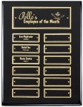 Ebony Finish Perpetual Plaque Achievement Awards