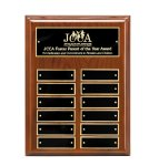 Walnut Piano Finish Perpetual Plaque Achievement Awards