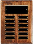 Solid Walnut High Gloss Perpetual Plaque Achievement Awards