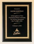 Black Piano Finish Plaque with Brass Plate Achievement Awards