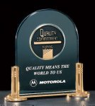 Jade Acrylic Award with Medallion Achievement Awards