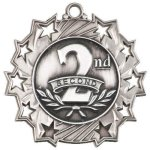 Ten Star Medal -2nd Place  Basketball Trophy Awards