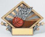 Resin Diamond Plate -Basketball Basketball Trophy Awards