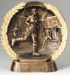 Resin Plate -Basketball Female Basketball Trophy Awards