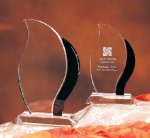 Artisan (Black) Black Optical Crystal Awards