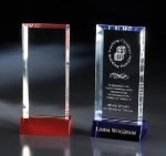 Irene Blue Optical Crystal Awards