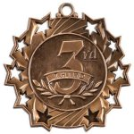 Ten Star Medal -3rd Place  Bowling Trophy Awards