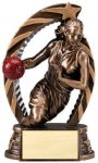 Antique Bronze and Gold Award -Basketball Female  Bronze and Gold Star Resin Trophy Awards