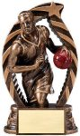 Antique Bronze and Gold Award -Basketball Male  Bronze and Gold Star Resin Trophy Awards