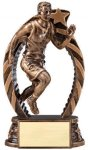 Bronze and Gold Award -Track Male Bronze and Gold Star Resin Trophy Awards