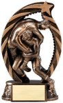 Bronze and Gold Award -Wrestling Male  Bronze and Gold Star Resin Trophy Awards