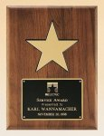 American Walnut Plaque with 5 Gold Star Cast Relief Plaques