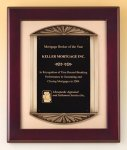 Rosewood Piano Finish Plaque Cast Frame Cast Relief Plaques