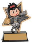 Little Pals Resin Trophy -Cheer Female Cheerleading Trophy Awards