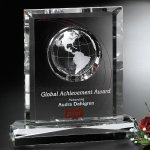 Columbus Global Award Clear Optical Crystal Awards