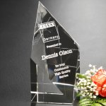 Diamond Spire Clear Optical Crystal Awards