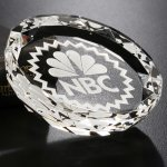 Faceted Gem Paperweight Clear Optical Crystal Awards