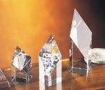Deco Diamond Clear Optical Crystal Awards