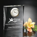 Moments Beveled Clock Clock Crystal Awards
