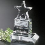 Champion Pedestal Star Corporate Crystal Awards