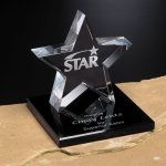 Tapered Star on Base Corporate Crystal Awards