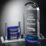 Arch Goal-Setter Crystal Glass Awards