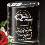 Ovation Award Crystal Glass Awards