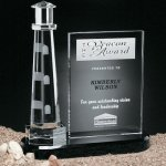 Journey Point Lighthouse Crystal Glass Awards