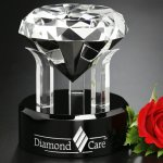 Radiant Diamond Crystal Glass Awards