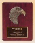 Antique Eagle Rosewood Piano Finish Plaque Eagle Awards