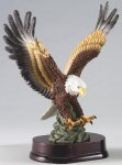 Eagle In Flight On Wood Base Eagle Resin Trophy Awards