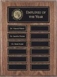 Genuine American Walnut Perpetual Plaques with  Exclusive Magnetic Release Employee Awards