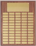 Perpetual Plaque Assembled with Black Plates Employee Awards