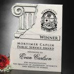 Chiseled Column Plaque Employee Awards
