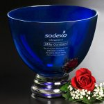Cobalt Pedestal Bowl Executive Gift Awards