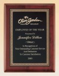 Rosewood Piano Finish Plaque with Brass Plate Executive Gift Awards