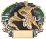 3D Full Color Award -Flag Football Football Trophy Awards