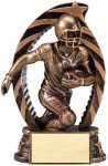 Antique Bronze and Gold Award -Football Football Trophy Awards