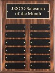 Walnut Finish Perpetual Plaque Monthly Perpetual Plaques
