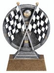 Motion X 3-D -Crossed Flags Motion X Action 3D Resin Trophy Awards
