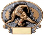 Motion X Oval -Wrestling Male  Motion X Oval Resin Trophy Awards