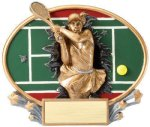 Motion X Oval -Tennis Female Motion X Oval Resin Trophy Awards