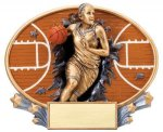 Motion X Oval -Basketball Female Motion X Oval Resin Trophy Awards