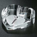 Slant Heart Paperweight Paperweights