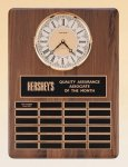 American Walnut Vertical Wall Clock / Perpetual Plaque Religious Awards