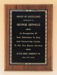 Walnut Plaque with Brass Engraving Plate Religious Awards