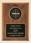 American Walnut Plaque with 4 Engravable Disk Religious Awards