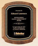 American Walnut Notched Plaque Religious Awards
