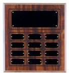 Perpetual Plaque with 12 Plates Sales Awards