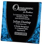 Acrylic Blue Plate Sales Awards